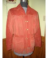 Vintage TREGO'S Westwear Women's (UNISEX) Fringe Leather Coat Jacket Lin... - $175.00