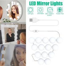 USB Powered 14 Bulbs Make Up LED Mirror Light Kit Vanity Hollywood Style... - $58.79