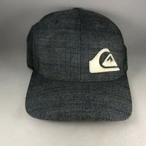 Gray Quiksilver Logo L / XL Stretchback Flexfit Mens Baseball Cap Hat - $19.00
