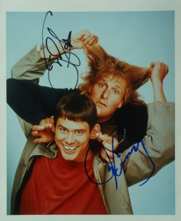 Primary image for JIM CARREY & JEFF DANIELS SIGNED PHOTO X2 - DUMB AND DUMBER w/COA