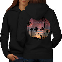 California Palm Sweatshirt Hoody Landscape Women Hoodie Back - $21.99+