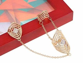 Fashion Personality Bracelet Jewelry Finger Rings And Chains, Gold Stripes