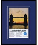 1964 Pan Am Airlines / London Bridge Framed 11x14 ORIGINAL Vintage Adver... - $41.71