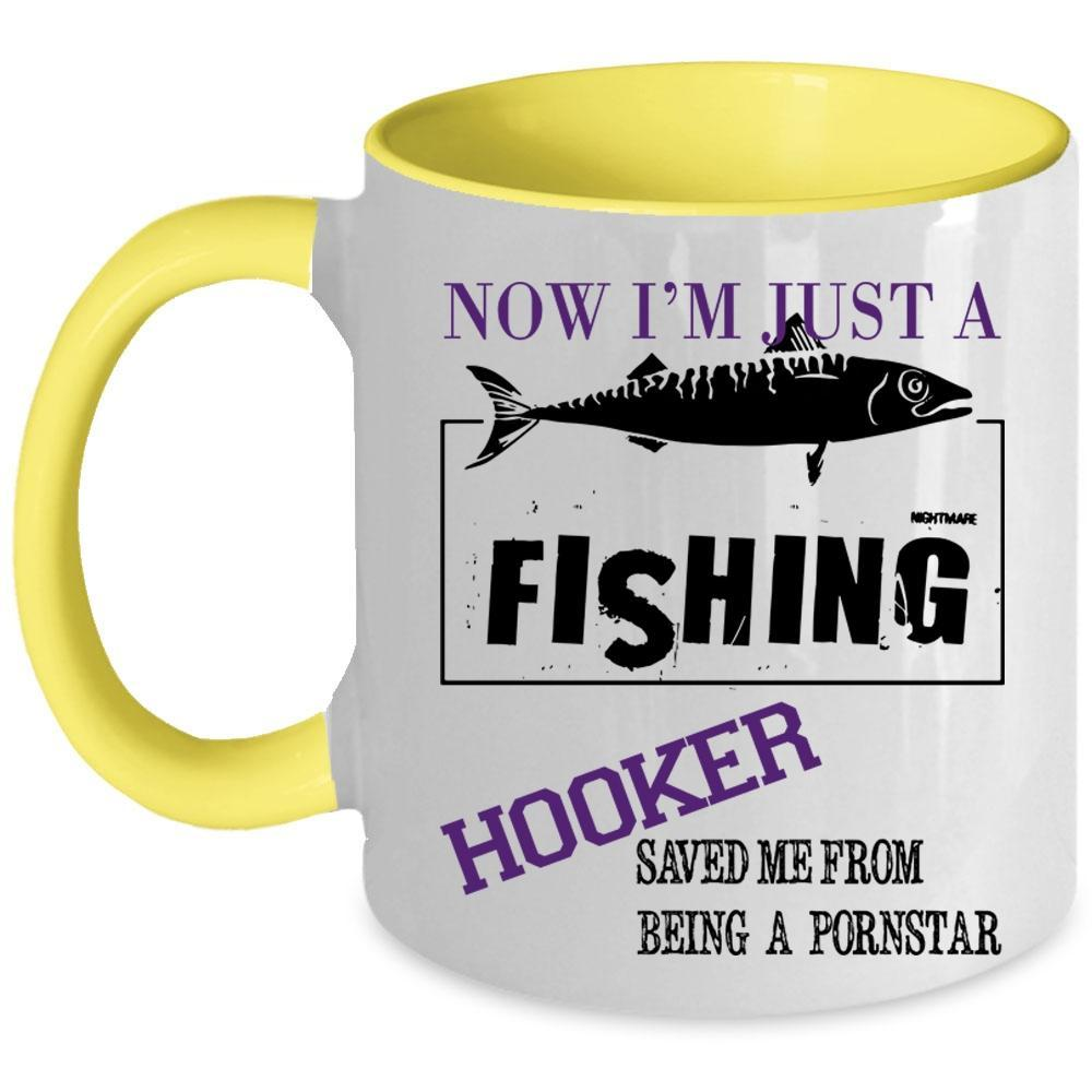 From Being Pornstar Coffee Mug, Now I'm Just A Hooker Accent Mug