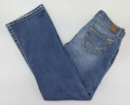 Buckle Womens Jeans 29x31 1/2 Kate Stretch Boot Cut Ripped Blue A8-08 - $24.13