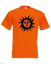 Mens T-Shirt Sun & Moon, Ethical Symbol tShirt, Crescent Day Night Joga Tshirt - $24.74
