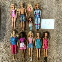 Barbie Lot - 10 Play Dolls for Little Girls Gift - Ken Chelsea AA Clothes - $30.00