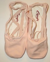 Capezio 2039 Pro Canvas Shoes Ballet Pink BPK Split Sole Size 7.5M 7.5 M - $27.87