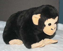 "Black 12"" Chimpanzee Plush Stuffed Animal 2005 Wild Republic - $8.42"
