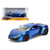 Lykan Hypersport Blue 1/24 Diecast Model Car by Jada 98076 - $33.37