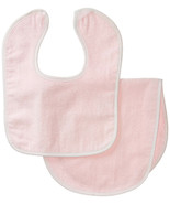 Burp Cloth aBaby Terry Velour Infant Bib and Burp Cloth Light Pink - $9.99