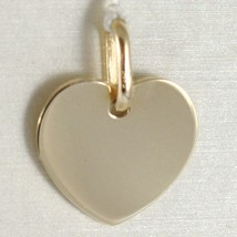 Yellow Gold Pendant 750 18k Flat Heart, incidibile, Length 1.6 CM, ITALY image 1
