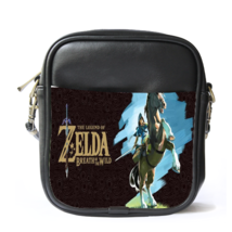 Sling Bag Leather Shoulder Bag The Legend Of Zelda Logo Japanese Action... - $14.00