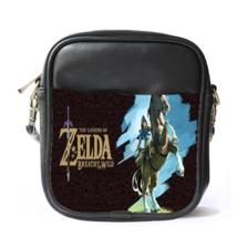 Sling Bag Leather Shoulder Bag The Legend Of Zelda Logo Japanese Action Adventu - $14.00