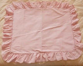 VINTAGE RALPH LAUREN Pillow Sham Cover BLUE LABEL Pink Oxford Cloth TWIN - $29.88