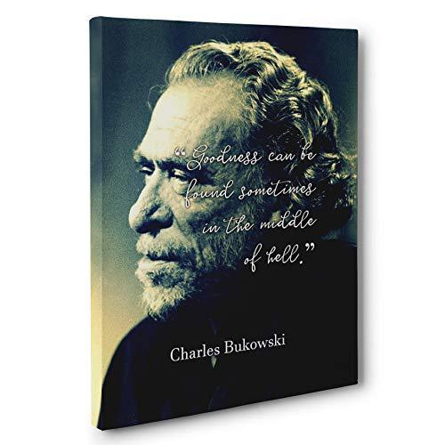 Primary image for Charles Bukowski Motivational Quote Canvas Wall Art
