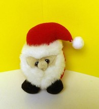 "Puffkins Plush 5"" Red Suit Santa Claus Ho Ho Merry Christmas Super Star - $7.77"