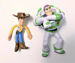 Disney Pixar Toy Story Figures Buzz & Woody Figurines 4-5.5 Inches Tall - $6.92