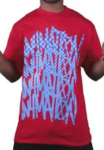 In4mation Hawaii Mens Cardinal Red or White Checkered Blues T-Shirt NWT image 5