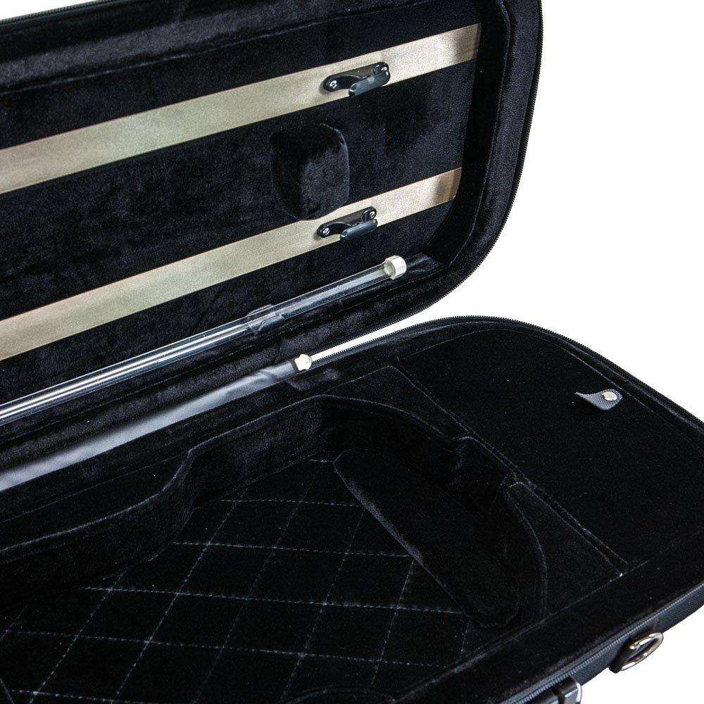 Euro-design Violin Oblong Case 4/4 Size, Black