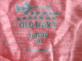 Trendy pink print long t-shirt Size XL by Old Navy  MMARS612 - $8.37