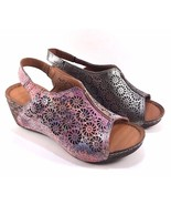 Bonavi Europe 27/ 324 Leather Slingback Wedge Open Toe Sandals Choose Sz... - $125.10