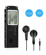 Voice Recorder - Dual Microphone 8gb Digital Voice Activated Recorder wi... - $29.63