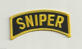 "ARMY SNIPER SHOULDER ROCKER TAB EMBROIDERED MILITARY 4""  PATCH - $18.04"