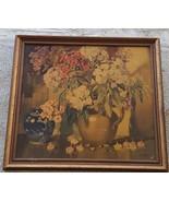 Nice Antique Artwork Print - E. Byatt - ANTIQUE FRAME - GREAT PRINT - NI... - $59.39