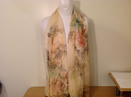 Peony Sheer Fabric Scarf, pastel colors of your choice image 15