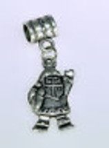 NICE Santa bead Christmas jewelry Sterling Silver 925 charm - $21.98