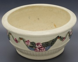 Antique Weller American Art Pottery Creamware Roma Bowl Planter Rose Gra... - $12.99