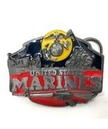 VTG Siskiyou United States Marines Iwo Jima Eagle Belt Buckle D Day Mili... - $64.34