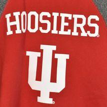 adidas Climawarm Indiana University Hoosiers Red & Gray Crew Sweatshirt Size S image 3