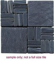 Intrend Tile LS010-S-sample Landscape Wonder Slate 2 x 2-Inch Alternate Mosaic T