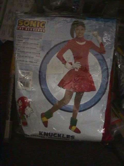 Rubie's Costume Sonic The Hedgehog Knuckles Dress and Accessories TEEN 2-6 - NEW
