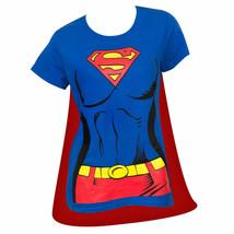 Superman Supergirl Cape Costume Tee Shirt Blue - $36.98