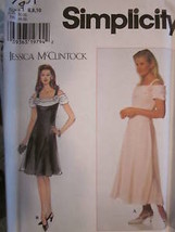 7461 Simplicity SEWING Pattern Misses Fancy Dress Lined Princess Seamed UNCUT FF - $4.88