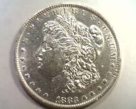 1883-O MORGAN SILVER DOLLAR ABOUT UNCIRCULATED+ AU+ NICE ORIGINAL COIN B... - $45.00