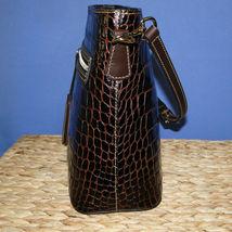 Dooney & Bourke Lani Croco Emb Leather Crossbody Brown T'Moro image 3