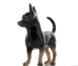 Hagen Renaker Pedigree Dog Chihuahua Large Black and Tan Ceramic Figurine image 3