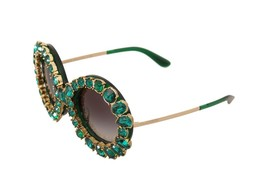 Green Swarovski Crystals Limited Edition Sunglasses - $1,492.50