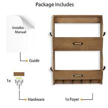 Wallniture 2 Sectional Entryway Décor Mail Holder Shelf Coat Rack with 12 Hooks  image 6