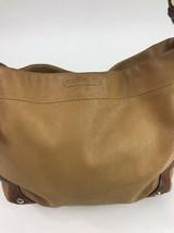 Coach Carly Handbag Satchel Brown Leather 10615 Purse Camel Brass - £50.55 GBP