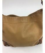Coach Carly Handbag Satchel Brown Leather 10615 Purse Camel Brass - $64.34