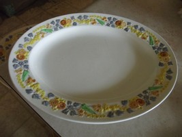 George Jones  & Sons Golden Dawn 13 3/8 oval platter 1 available (some c... - $7.87