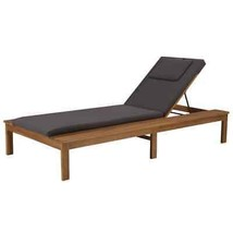 vidaXL Solid Acacia Wood Sun Lounger w/ Cushion Chaise Sunbed Seats Chair - $225.99