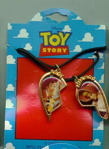 Disney Toy Story Woody & Bo Peep Best Friends Necklace