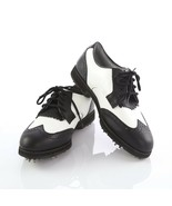 FootJoy SoftJoys Terrains White Black Wingtip Golf Shoes Womens 6.5 SN 9... - $34.54