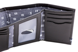 Nautica Men's Genuine Leather Credit Card Id Holder Trifold Wallet image 8